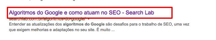 algoritmos do Google Pesquisa Google