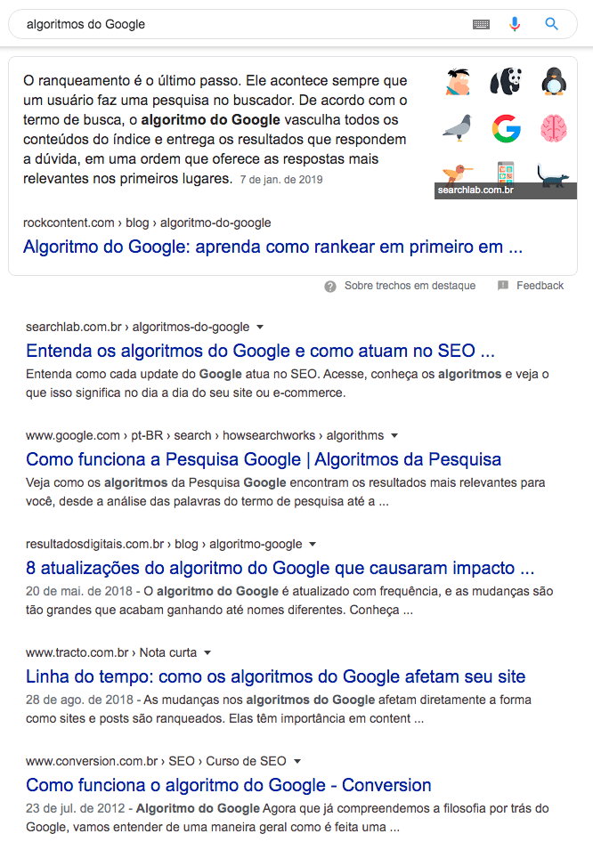 Search Lab algotirmos do Google Resultado Zero