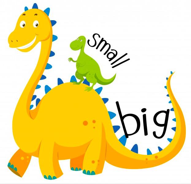 dinossauro pequeno e grande