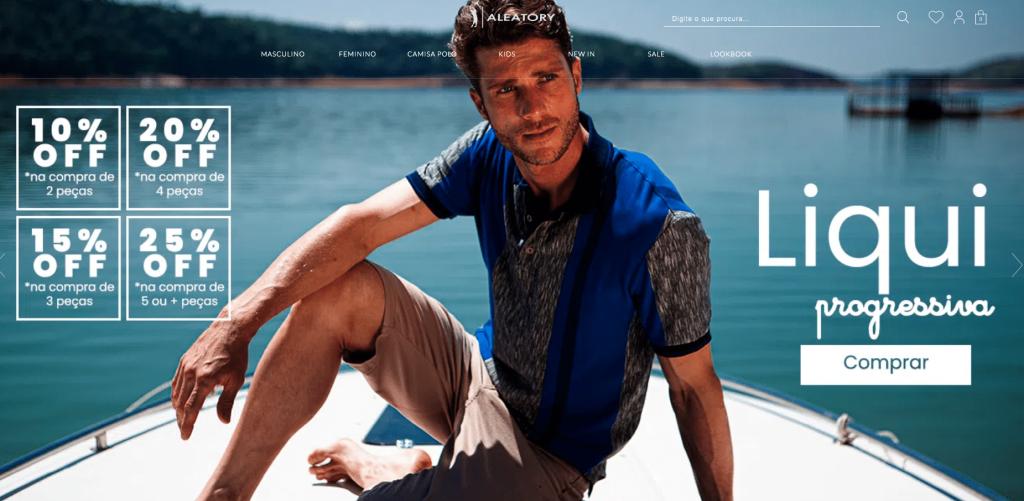 Exemplo de UX Design em ecommerce masculino pensado para equilibrar experiência do usuário, SEO e conversões